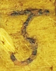 The letter g on the inscribed object StH 550